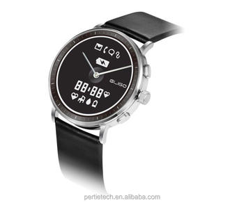 The most power efficient smart watch with E-ink display and TI CC2640 BLE chipset Japanese Quartz movement