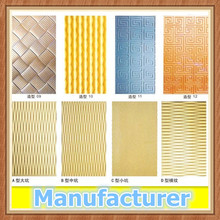Decorative MDF 3d wall texture panel