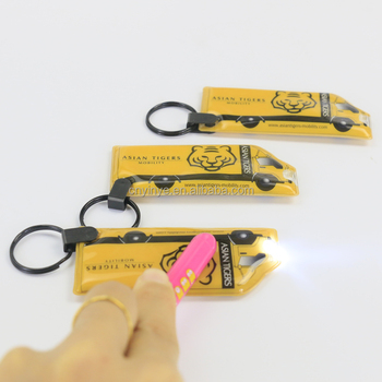 Promotion gift custom led keychain , pvc keychain light with oem logo