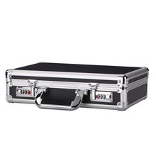Portable Combination Lock Aluminum Hard Case Tool Carry Box With Foam Insert