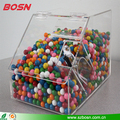 High quality acrylic bulk candy box display lucite plexiglass chocolate bins with scoop for sale