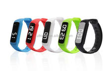 24 Hours 3d pedometer calorie counter cheap silicon rubber colorful watch