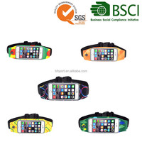 4.7 and 5.5 inch new style waterproof running belt waist bag for mobile phone