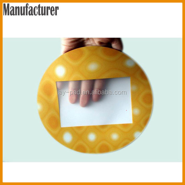 AY Round EVA + PVC Sublimation Printing Ergonomic Mouse Pads Sticker Mouse Pad Insert Photo Mouse Pad, Trade Assurance Moue Mat