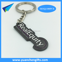 New design zinc alloy metal keychains with custom embossed logo