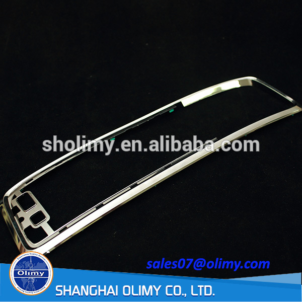custom injection ABS trivalent chrome plated plastic frame parts