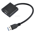 USB 3.0 to VGA Video Graphic Card Display External Cable Adapter for Win 7 8