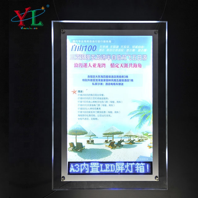 High brightness LED crystal picture frame Light box for <strong>Advertising</strong>