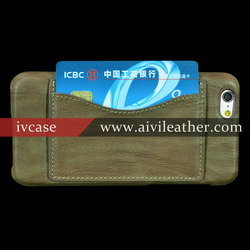 Top selling genuine italy leather mobile covers for iPhone 6 cases back cover
