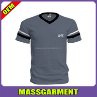 Newest 65 Polyester 35 Cotton T Shirt V Neck T Shirts Men