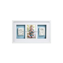 Solid wood my first year baby hand foot print picture photo frame clay