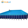 Customize size steel swimming pool Ground metal frame pool rectangular metal frame pool
