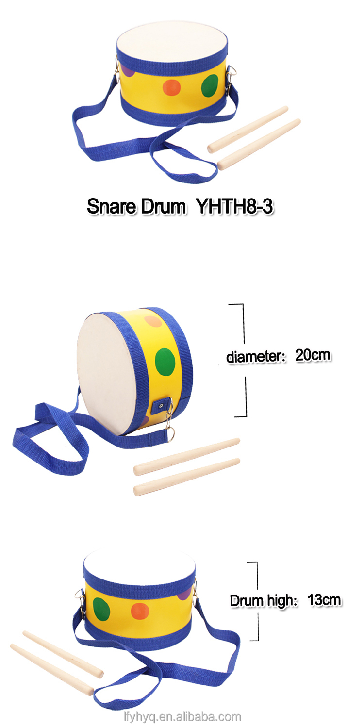 High Quality Percussion Musical instrument toy learning toy baby drum for child customize wooden kids drum kit