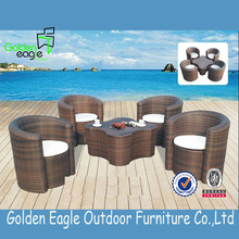 Fashion Style Sectional High Quality Elegant Patio Rattan Sofa Set Furniture S0034