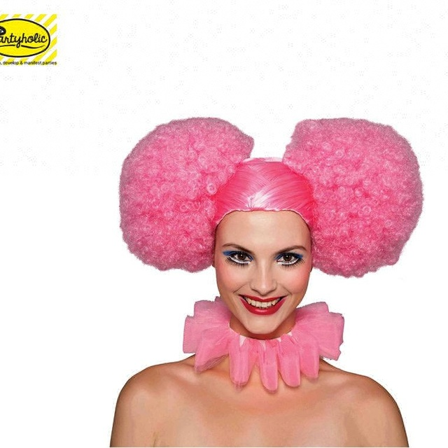 Latest design top quality synthetic disco pigtails doll wigs