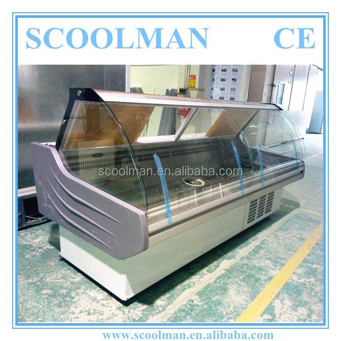 Commercial Cold Deli Display Refrigerated Counter