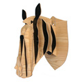 Exquisite and Popular Wall-mounted Wood Animal Head Avatar for home decoration