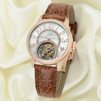 Profession Watch Manufacturer Custom Top Quality Lady Tourbillon Wrist Watch