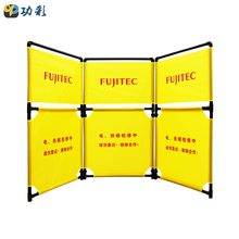 China Wholesale Plastic Reflective Yellow Oxford Cloth Top quality 25MM Tube Folding Elevator Safety Barrier