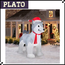 christmas inflatable dog/inflatable shiba inu/outdoor dog decoration