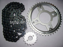 AX100/428H/42T/14T high performance and good quality motorcycle sprocket chain set