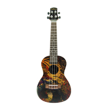 Tenor musical instrument cutaway spruce wooden ukulele from Guangzhou guitar factory