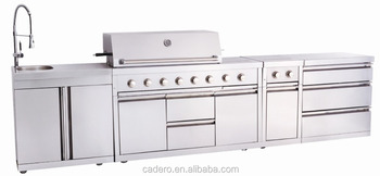 CBU Gas grill with cabinet and sink