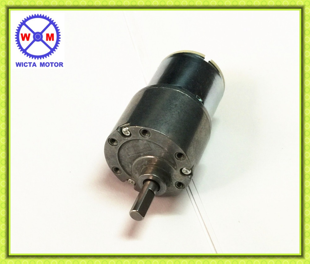 37mm diameter 6mm shaft high torque gearbox 12v micro dc for High torque micro motor