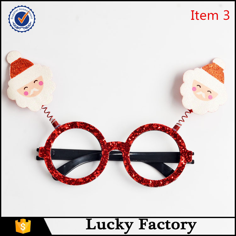 New model artificial father christmas eyewear frame glasses gifts