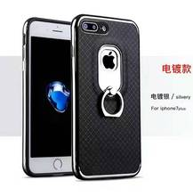 Holder metal ring buckle oil paint technique lozenge pattern mobile phone case for Samsung J5 PRIME