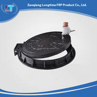 Economic Factory Direct locking manhole cover with frame and handle, SMC Water tank Manhole Cover