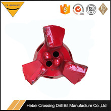 122mm three wings PDC drag bit for water well drilling