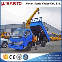3 ton to 20 ton dump truck with crane mini truck mounted crane
