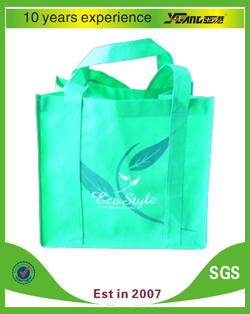 with webbing handle reusable foldable shopping bag