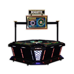 Hot sale 32 Inch top live display touch screen double-zero electronic roulette machine with 8 players for sale