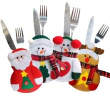 Wholesale Table Decoration Nowovens Santa Clause Cutlery Bag