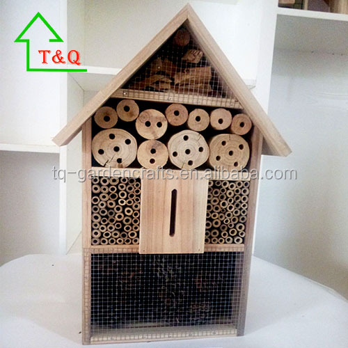 Natural Wooden Bug and Mason Bee House