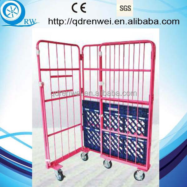 Folding Roll container logistics cart\push moving cart