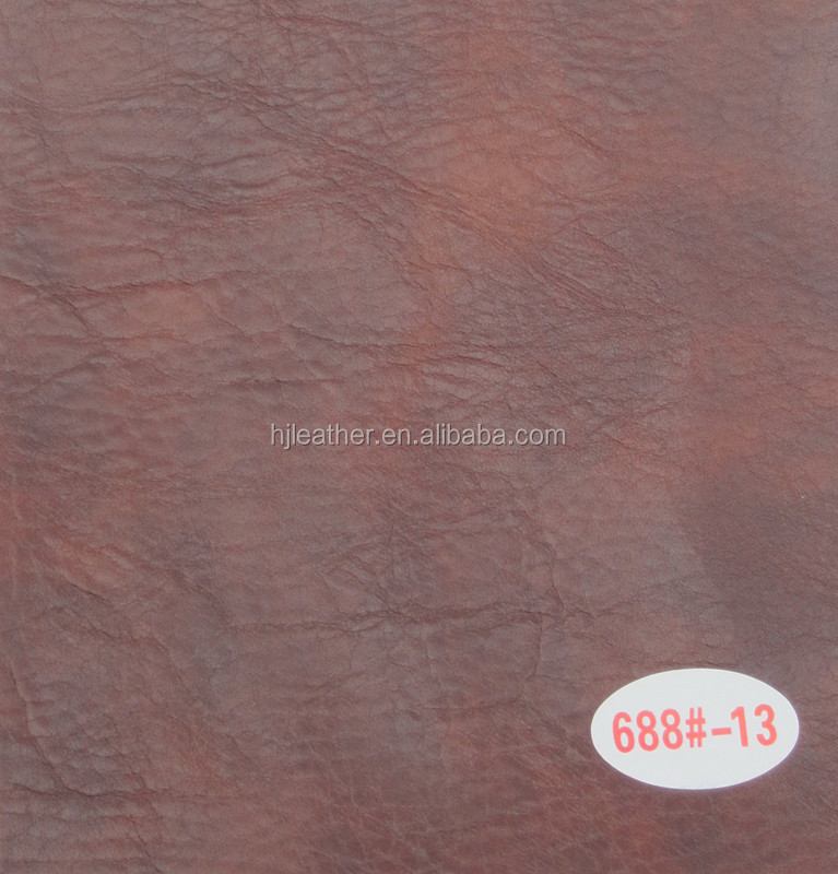Oily wax PU Decorative Leather