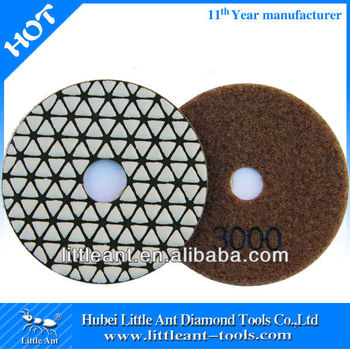 "100mm/4""dry diamond polishing pads vecro backed 3000 grit"