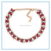 Multicoloured precious Stone Pearl Vintage Choker Pendant Statement Necklace Women Necklaces & Pendants Fashion Necklaces
