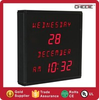 Top Quality For Elderly Home Decorative LED Calendar Clock