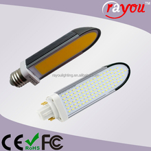 COB PL g24d-2 led lamp, 11w 13w led pl lamp, 2 pins plc light for cfl replacement