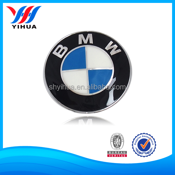 Blue Color Painted ABS Plastic Nameplate With Chrome Plating Craft