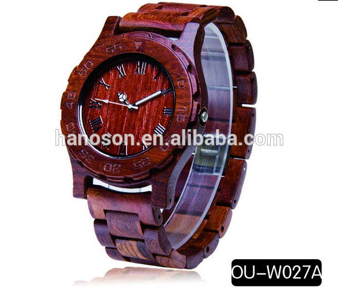2016 promotional Wooden wrist watch 100% natural sandalwood Watches