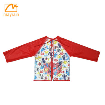 Long Sleeve Kids Apron Children Smock For Drawing