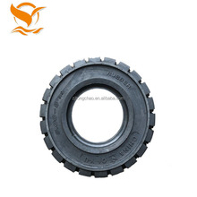 China rubber tire manufacturer supply 650-10 5.00 solid forklift tire 650x10
