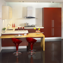 Modern style glass kitchen cabinets for sale with australian popular quartz countertop