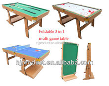 Wholesale folding stand up 3 in 1 multi game table
