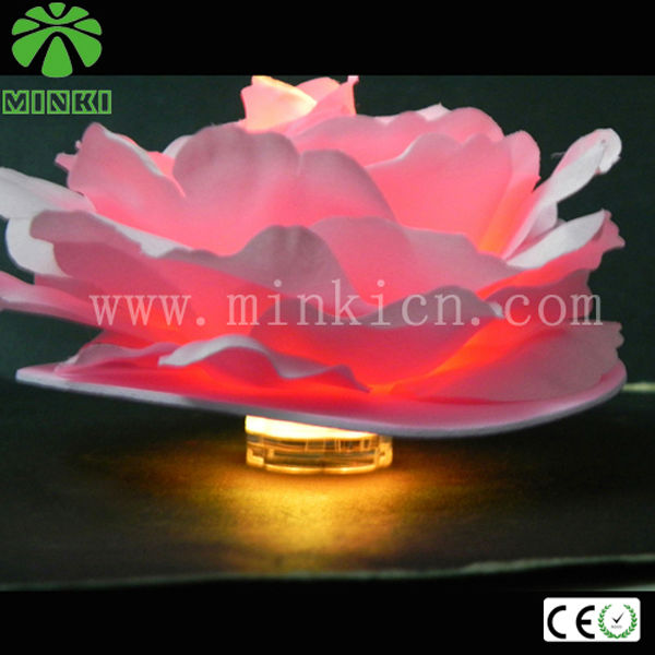 Battery powered floating led decorative artificial flower with light